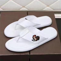 Wholesale Cock Big - 2017 Summer Style Shoes mens Sandals Brand Slippers Flats high Quality genuine leather Flip Flops Big cock Embroidery Sandal 38-44