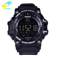 Wholesale Alarm Buzzer Sound - New Sport smart watch buzzer sound alarm sport monitor IP67 waterproof burned calory men watch remote camera watches CASIMA EX16