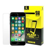 handys pakete großhandel-Gehärtetes Glas für iphone X 6s 7 7S 8 plus klarer 9H 0.3mm 2.5D Handy-Bildschirmschutzfilm mit Kleinpaket