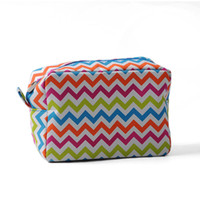 Wholesale teacher gifts free shipping - ROYALBLANKS Christmas Gifts Customization Multi-Chevron Makeup Bag Cosmetic Bags & Cases Bridesmaid Teacher Gift Idea(FedEx Free Shipping)