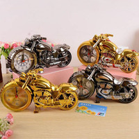 Wholesale Vintage Furnishings - New Creative Vintage Motorcycle Alarm Clock Shape Super Cool Upscale Furnishings Home Decor Xmas Gifts Birthday Present ZA1562
