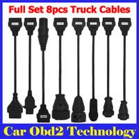 cdp cabos completos venda por atacado-5 Pçs / lote Full Set Truck Cable Para TCS CDP PRO PLUS 8 Cabos Para Caminhões Tcs Cdp Pro Plus Caminhão Scanner Cabos por DHL grátis