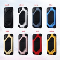 Wholesale Armor Shipping - Bumblebee Hybrid TPU PC Armor Phone Case Cover For iPhone 5 6 6S 7 8 X Samsung S7 Edge S8 Plus Note8 DHL free shipping SCA366