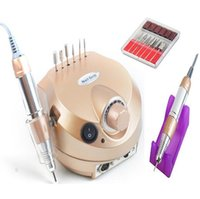 lime à ongles pro tools achat en gros de-Vente en gros - 110 / 220V 35000 tr / min Pro Nail Drill électrique File Machine Kit Kit de manucure Pro Salon Accueil Nail Tools Set Livraison gratuite