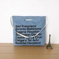 Wholesale Handbag Usa Flag - Wholesale-New 2016 Women Handbags USA Flag Letter European and American Fashion Casual Bags Canvas Bag Women Shoulder Bags