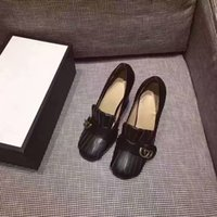 Wholesale High End Dress Shoes Leather - 2017 NEW brand designer high-end custom genuine leather with crude high-heeled comfortable casual single shoes dress work fashion shoes