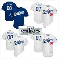 Wholesale Navy Boys - Los Angeles Dodgers 2017 Postseason Patch Personalized Mens Lady Boys Cool Flex Baseball Jerseys Customized Any name & no. Navy