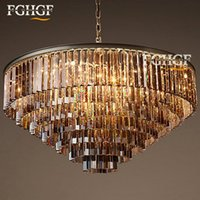 Factory Outlet Modern Vintage RH Chandelier Crystal Hanging Light para Home Restaurant Decoration Large Round Chandelier lámpara de techo