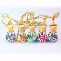 botellas comesticas al por mayor-8 ml Viajes Comestic Tarros Para Parfum Botellas de Mujer Cosméticos Botellas de Vidrio Arcilla Polimérica Botella Recargable Vacía