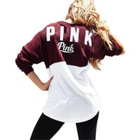 Wholesale 2017 Autumn New Women Hoodies Brand Bts VS Pink Print Hoodie Frenchterry Sweatshirts Fashion Harajuku Tracksuit Tops