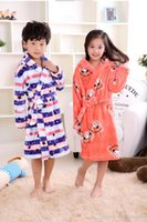 Spring New Year Geschenke Flanell Kinder Bademäntel Kinder WinterHome Wear One Piece Pyjamas Boy Girl Peignoir Enfant Kleid Roben
