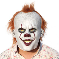Wholesale Horror Film Face Masks - Face Mask Horror Films Movies Stephen King's It Maks Joker Clown Pennywise Mask Latex For Christmas Halloween Cosplay HOT 2017