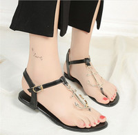 Wholesale Pirate Sandal - 2017 Summer New Pirate Style Shoes T-tie Flip Flop Open-Toes Rubber Comfortable Flat Heel Women's Sandals