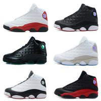 Compra Scarpe Sportive Maschili-Air Retro 13 Cheap Migliori Scarpe da Basket Uomo Jumpman sport air retros 13 XIII Black Cat Uomini Scarpe da Basket Retros Male Running Sneakers