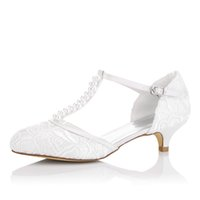 Wholesale Upper Lace Dress - Nice Little Heel Lace Upper Dyeable Wedding Dress Shoe Bridal Shoes Wedding Dress Shoes Handmade Shoes for Wedding From Size35-41