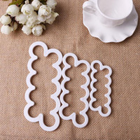 Set Plastic FDA Rose Cookie Cutter Pastry Cute Biscuit Cutters Metal Bread Fruit Plastic Big Brand 1Set =3Pcs 3Size