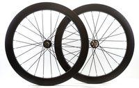 Wholesale Disc Carbon - 700C Carbon fiber 60mm depth Clincher wheelsets disc brake road bike wheelsets with Novatec771 772 hubs 25mm width carbon wheel