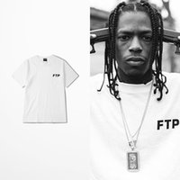 Wholesale Loose Shirt Top - Europe And The United States Hip Hop Ftp Print T Shirt Man And Women Harajuku West Coast Loose Funny T Shirts Man Pink Top Tee