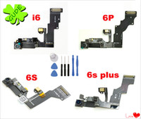Wholesale Mic Assembly - For IPhone 6 6G Plus Proximity Light Sensor with Front Camera Assembly Flex Cable Ribbon Cam Mic Microphone Flaxy