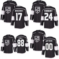 Wholesale Jarome Iginla Jersey - Mens 2017-2018 New Season Los Angeles Kings 5 Christian Folin 17 Jonny Brodzinski 24 Derek Forbort 88 Jarome Iginla Hockey Jerseys