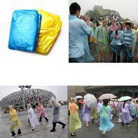 Wholesale Sports Poncho - 10PCS pack best price Disposable PE Raincoats Poncho Rainwear Travel Playground water sports Rain Coat Rain Wear gift mixed colors