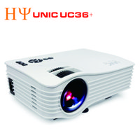 Wholesale Usb Wireless Multimedia Remote - UNIC UC36+ Projector Full Color 1080P 130-inch Screen Portable Multimedia LED Projector with HD AV USB Remote for NoteBook