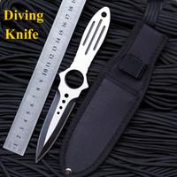 herramientas cs al por mayor-Cuchillo de buceo profesional que acampa cuchillos tácticos cs van Herramientas de mano de bolsillo ganso de supervivencia herramienta de diagnóstico ganzo