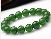 Wholesale White Jade 8mm - 8mm Genuine Natural Green Jade Round Gemstone Beads Stretch 2PC Bracelet 7.5'' AAA