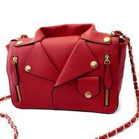 Wholesale Women S Fashion Purses - Wholesale-Designer Handbags High Quality Women PU Leather Jacket Bags Women Clothing Shoulder Messenger Bag Day Clutch Purse bags S-1964