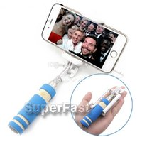 Selbstauslöser-einbeinstativ Kaufen -Super Mini Monopod Kabel Take Pole Faltbare All-in-One Monopod Selbstauslöser Kit mit Groove für Iphone 6 Galaxy S7 Retail Paket DHL frei