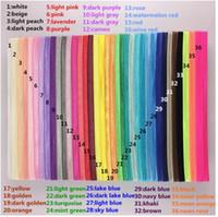 bebek kauçuk bantları toptan satış-BEBEK Kızlar Erkek Naylon Elastik Kauçuk Bantları DIY Gökkuşağı Saç Aksesuarları Çocuk Yürüyor bebek için 35 Renkler
