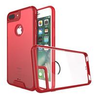 iphone 5s tampon kasası açık toptan satış-Satış için iPhone 7 7 Artı 6 6 s Artı 5 5 s SE Şeffaf Kılıf Yumuşak TPU Tampon + Temizle Geri Kabuk Zırh Darbeye ...