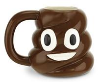 Wholesale Novelty Ceramic Coffee Mug - new arrival emoji Shit Mug Creative Ceramic Kawaii Emoji Coffee Tea Cup Porcelain Novelty For wedding Gift Water Cup with lid H90