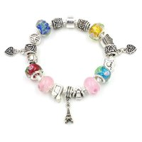 Wholesale Diy Jewellery Christmas Charms - Silver Plated European Style Charm Chamilia DIY Pandora Bracelets For Gilrs Fashion Jewellery For Christmas Gift