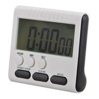 temporizadores de 24 horas al por mayor-Nuevo Magnético Temporizador de cocina digital LCD grande con alarma fuerte Cuenta ascendente Reloj descendente a 24 horas 78x73x25MM