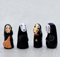 Wholesale Miyazaki Action - Studio Ghibli Spirited Away No Face Man PVC Action Figure Miyazaki Hayao Anime Kaonashi Model 3.5cm Decoration Doll Kids Toys b983