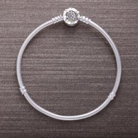 Wholesale Imitation Crystal Bangles - high quality 925 Sterling silver name beads clasp with logo Charm Compatible with Pandora Bracelets& bangles For Women fashion Jewelry gift