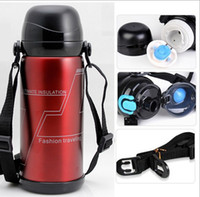 Wholesale Thermos Flask Large Capacity - Stainless Steel Insulated Thermos Mug Sports Thermal Vaccum Water Bottle Vacuum Flasks Bottle For Outdoor Office Home 800 ml Large Capacity