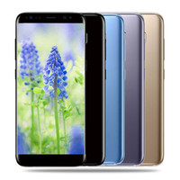 Wholesale Smart Cell Phone Wifi - Goophone S8 plus Curved screen 5.7inch Android Quad Core MTK6580 1G 4G 3G Cell Phones Show fake 1G 128G Smart phone