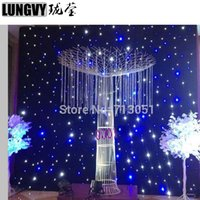 4Mx6M Blue + White LED Bühne Star Tuch Matrix Backdrop Bühne DJ Pub DMX LED Star Vorhang