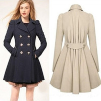 Wholesale Ladies Xxl Clothing - Coats Jackets Ladies Lapel Winter Warm Long Parka Coat Trench Outwear Jacket Size S-XXL Trench Coats Outerwear Women's Clothing 3 Color