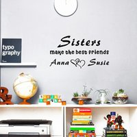 Wholesale Brother Art - Custom Made Personalized Sisters or Brothers Name Make the Best Friends Vinyl Wall Decal Sticker for Kids Room Decor