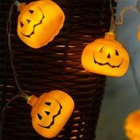 ingrosso le luci di zucca di halloween delle stringhe-Luce di zucca di Halloween 3M 30 LED puntelli di zucca Bar decorazione puntelli Luminescence Pumpkin String Light Lamp