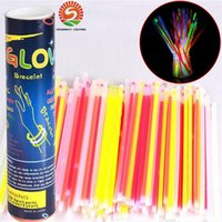 7.8''Multi couleur Hot Glow Stick Bracelet Colliers Neon Party LED clignotant Lumière Stick Vocal Concert LED Flash Sticks Livraison gratuite DHL