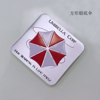 Wholesale Cool Auto Emblems - TOP quality3D metal COOL Biochemical crisis Resident Evil umbrella Sticker metal Emblem Badge car styling Auto body rear trunk decoration si