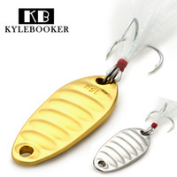 Wholesale Silver Lures - KyleBooker Fat Worm Fishing spoon Sequins lure 2.5g 5g 7.5g 10g 15g 20g silver gold long shot fishing lure spoon metal lure hard bait