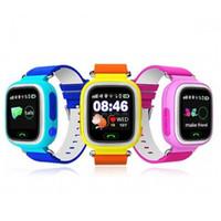 pantalla táctil gps tracker al por mayor-GPS Pantalla táctil WIFI Reloj inteligente Buscador de localización de niños Dispositivo Rastreador Seguro para niños Anti perdidos Monitor Smartwatch