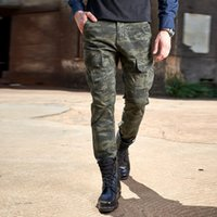 Wholesale Army Cargo Camo - Men Tactical Camouflage Military Sweatpants Multi-pocket Cargo Pants Men Camo Army Cargo Jungle Pants outdoor casual Long Trousers