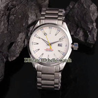 Wholesale Brand Ss - High Quality Brand Luxury 007 AQUA TERRA 150M JAMES BOND Co-Axial 231.10.42.21.02.004 White Dial Automatic Mens Watch SS Band With Gift Box