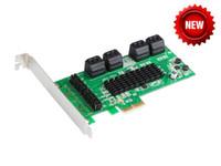 controladores sata venda por atacado-Chipset Marvell 8 Portas Placa Controladora PCI Express SATA 6GB PCI-e para conversor SATA 3.0 Suporta Multiplicador de Porta NCQ FIS